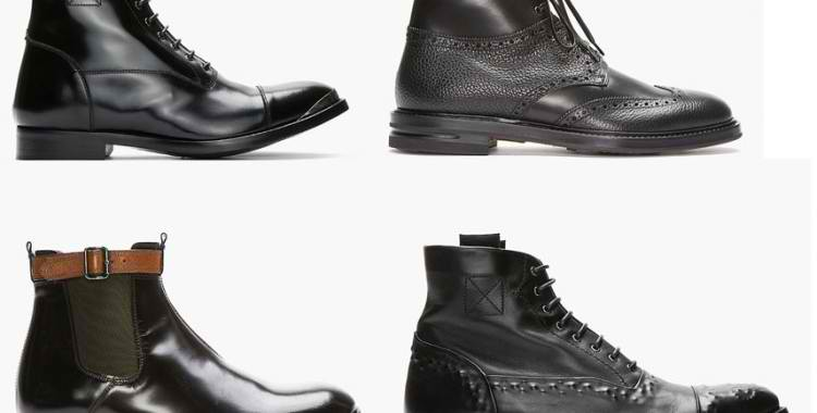 SALE : Alexander McQueen Men's Leather Boots